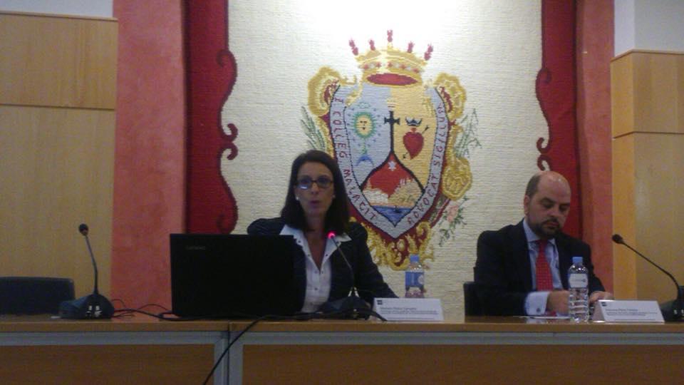 Presidenta de Filio, Mariela Checa Caruana y Francesc Pérez Tortosa